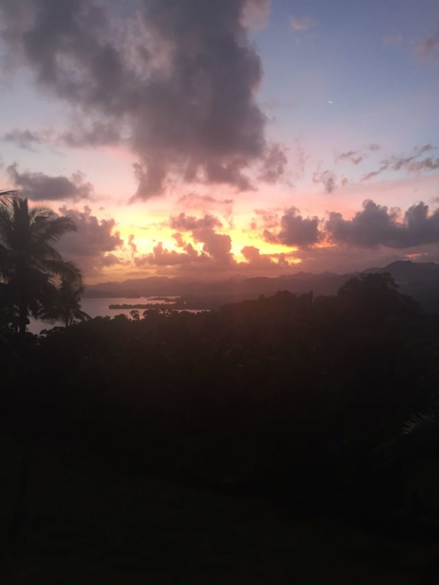 Fiji - Sunset from Kate's Deck - Suva