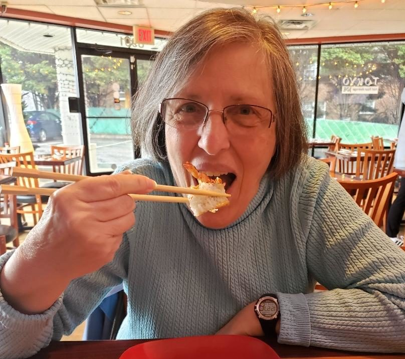 52 Small Pursuits of Happiness in 2019: Week #6 – Try a New Food (Sushi, at Age 70+)